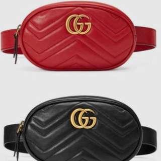 Gucci黑色腰包