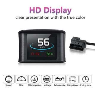 2.6inch OBDII Smart digital device speedometer HUD OBD2 P10 Scanner Diagnostic Tool