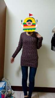 混色修身針織毛衣