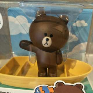 LINE Brown magnetic Clip Holder with x10 paper clips direct from Korea
