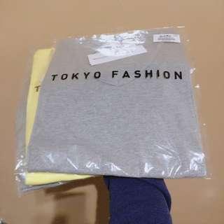 東京著衣 素面羅紋V領短袖T恤