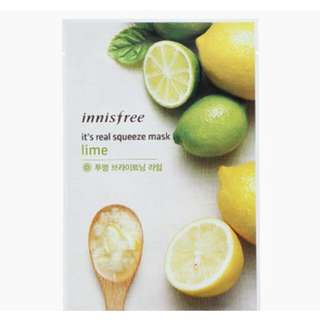 INNISFREE LIME SQUEEZE MASK