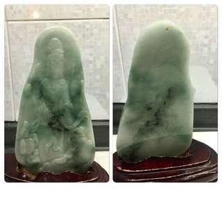 Large Jadeite Guan Yin