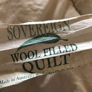 Wool filled quilt king size