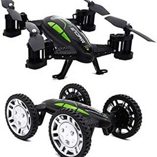 Extreme FY602 RC Quadcopter Flying Car Drone Headless Mode & Altitude Hold Functions - Black