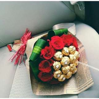 Handmade Bouquet/Chocolate Bouquet/ Ferrero rocher Bouquet