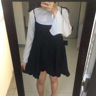 黑色可調肩帶吊帶裙背心裙魚尾裙#舊愛換新歡