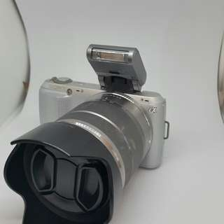 Sony nex c3 with flash 8 gb sd card