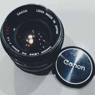 Canon fd 50mm f1.4 (manual lense) made In Japan