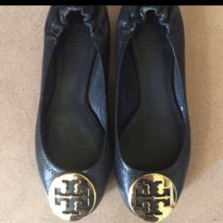 Tory Burch Navy Flat Shoes 鞋