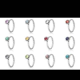 Pandora Ring Birthstone Collection