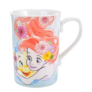 日本 Disney Store 直送小魚仙 The Little Mermaid Princess Ariel & Flounder 陶瓷杯
