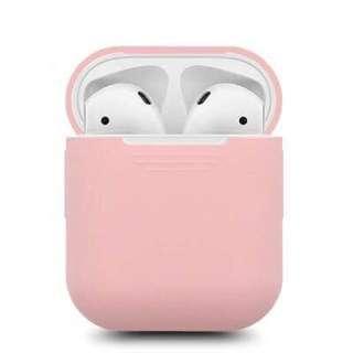 【實物拍攝】淺粉紅色 Airpods矽膠保護套