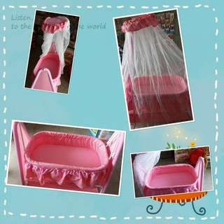 Baby cradle pink