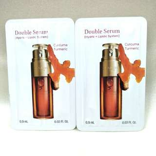 Clarins (2pcs x 0.9ml) Double Serum Curcuma Turmeric