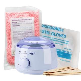 Brand New Pearl Wax Set (With gloves,machine, spatula and 500g wax)