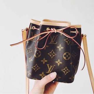 Lv bucket bag monogram mini