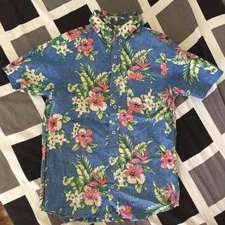 Aloha Floral Button Down Polo