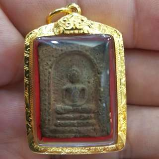 LP Kuay Wat Kositaram Wekman Nong Yi Tutt 2515 with real gold casing