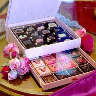 海洋迪士尼 情人節雙層巧克力禮盒(限量3000個)
