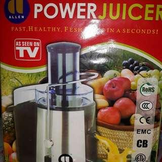 Allen power juicer - whole fruit juicer