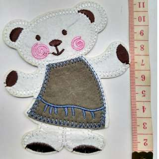 Iron on sweet bear applique patch fabric badge decoration free normal postage