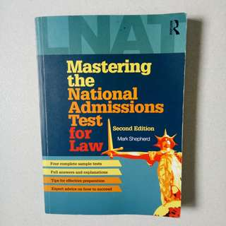 Mastering the National Admissions Test for Law-2nd Edition