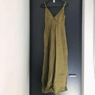 Island Shop Olive Maxi Dress