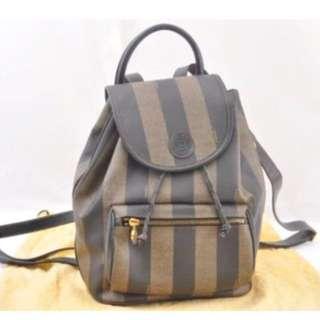 Fendi Zucca Vintage Rucksack backpack 背包 ❌ Hermes Prada Porter Chloe Miumiu Ferragamo