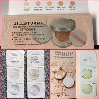 Sulwhasoo / JILL STUART / LANEIGE cushion sample