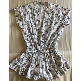 NEW Beginning Boutique white spring flower playsuit XS