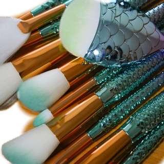 Mermaid Brush 11Pcs Set (New Arrivals) Ready Stock!