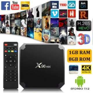 $60: X96 Mini TV Box - 4K Support, Children channels, Suntv, Sports, EPL , Kodi 17.0, Quad-Core CPU, Android 7.1, Android tv box