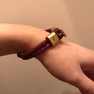 全新 YSL 紫色手繩 手帶