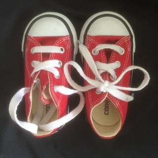 Converse Red Shoes