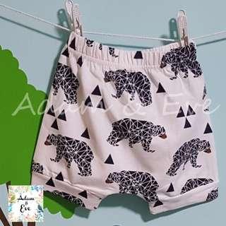 ⭐️Baby Fashion⭐️ Assorted Graphic Shorts E8 – Geometrics Bear Shorts $8.90