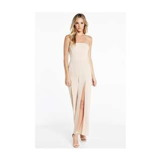 BARDOT EBONY JUMPSUIT NUDE (STILL WITH TAGS)
