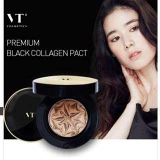 VT BLACK COLLAGEN PACT SPF 50+ PA +++ 黑色精華膠原蛋白拉花氣墊護膚級粉底 ♥ 附填充裝