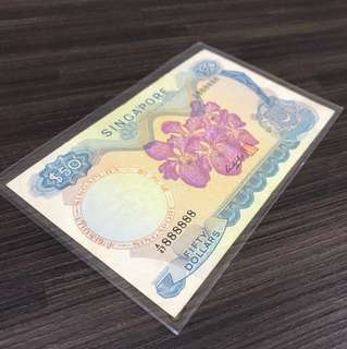 Rare Singapore Orchid Solid $50 888888