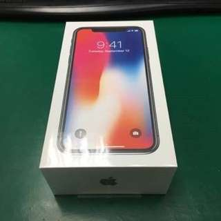 全新未開iPhone x 256 黑色