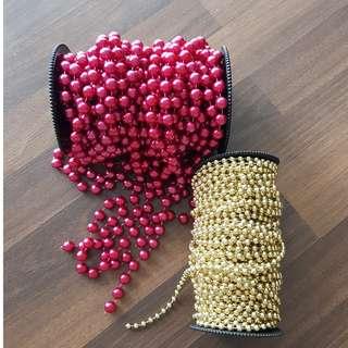 Metallic Plastic Beads (in strands)