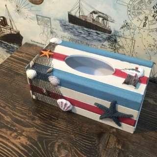 地中海風紙巾盒