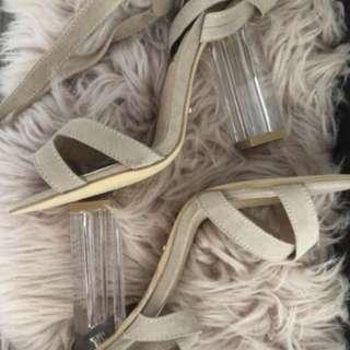 Billini new tan strap shoes