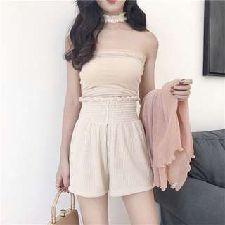 Nude super stretchable tube top