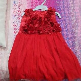 Notti peppi dress red