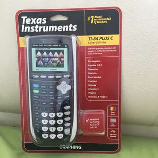 Full Colour Brand new unopened TI-84 PLUS C Silver Edition Graphing Calculator