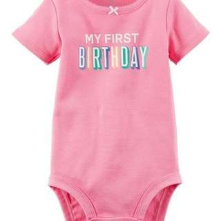 🇺🇸CARTER'S My 1st Birthday Collectible Bodysuit (9 Months)