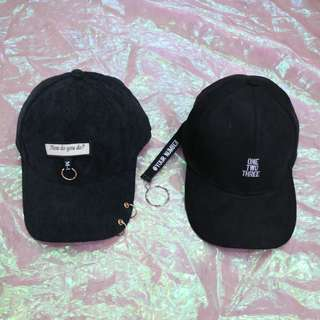 🚚 圓環英文造型中性老帽