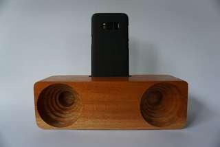 Pengeras Suara Kayu Manual / Kayu Wood Wooden Speaker Stereo
