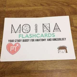 MOINA flash cards for review of Human Anatomy & Kinesiology